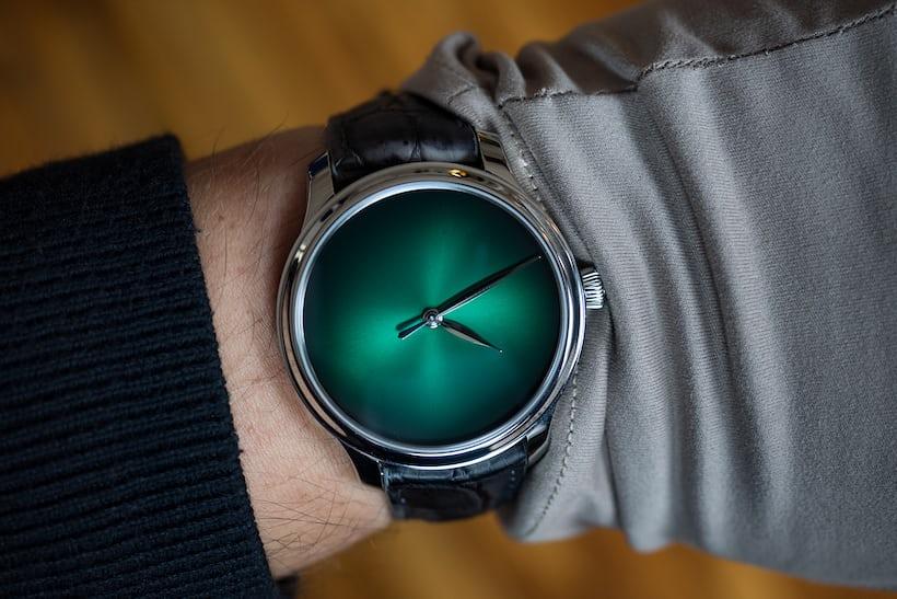 Moser Concept Cosmic Green wrist shot