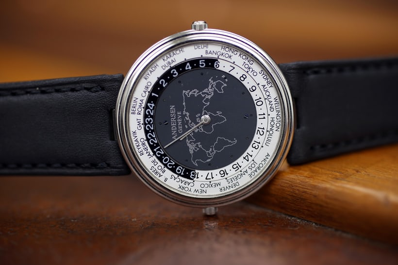 """1993: 3rd Edition World Time """"Mundus"""" aka the thinnest world timer in the world."""