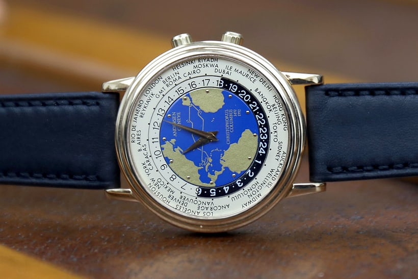 "Launched in 1992, the 2nd Edition Worldtime ""Christopher Columbus"" commemorates 500 years since Columbus's 1492 voyage."