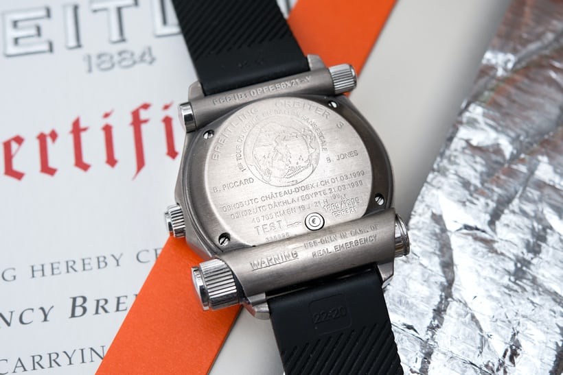 breitling emergency titanium caseback