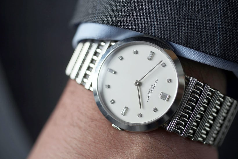 audemars piguet minute repeater platinum bracelet wristshot