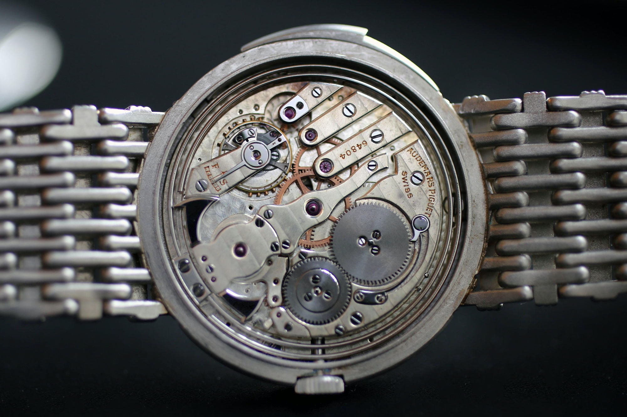 audemars piguet minute repeater platinum bracelet movement Found: A Unique Platinum Audemars Piguet Minute Repeater With A Matching Platinum Bracelet At Christie's Found: A Unique Platinum Audemars Piguet Minute Repeater With A Matching Platinum Bracelet At Christie's IMG 2623