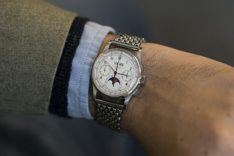 Patek 1518 steel Phillips world's record