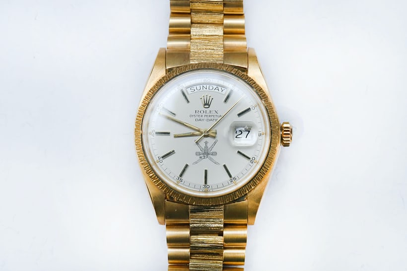 khanjar bark gold day-date rolex
