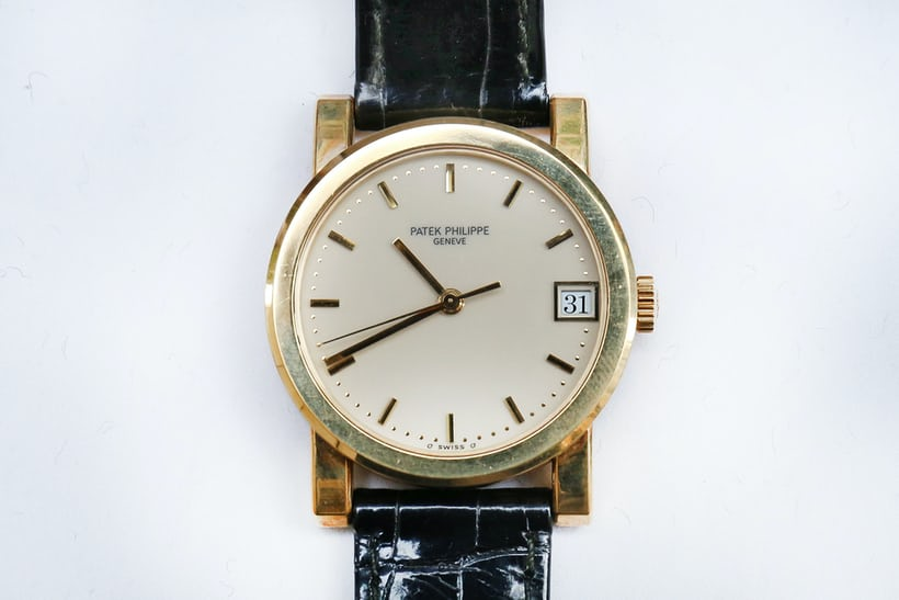 yellow gold patek philippe calatrava
