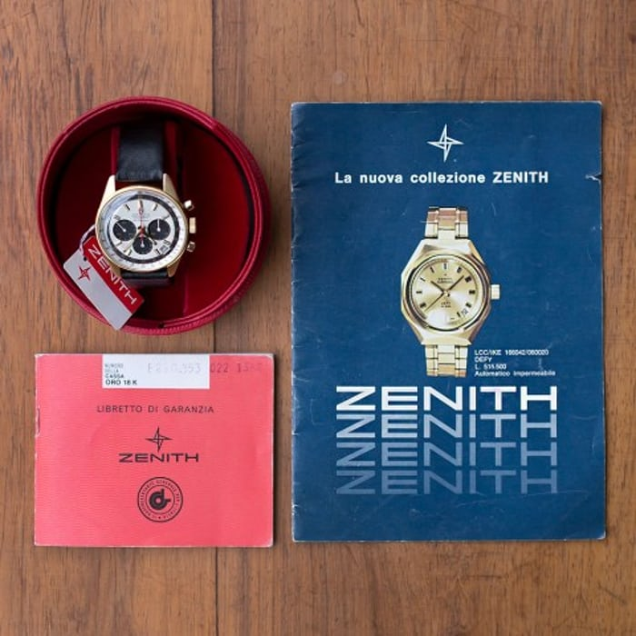 Zenith El Primero G381 full set