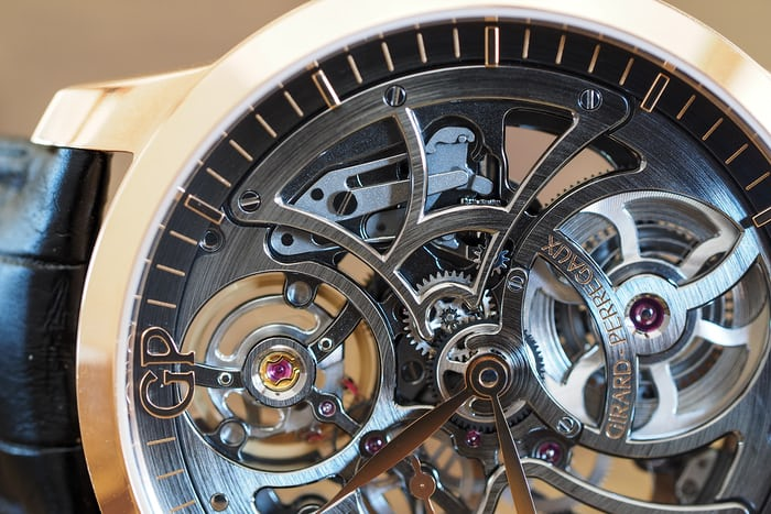 Girard-Perregaux 1966 Skeleton Automatic keyless works