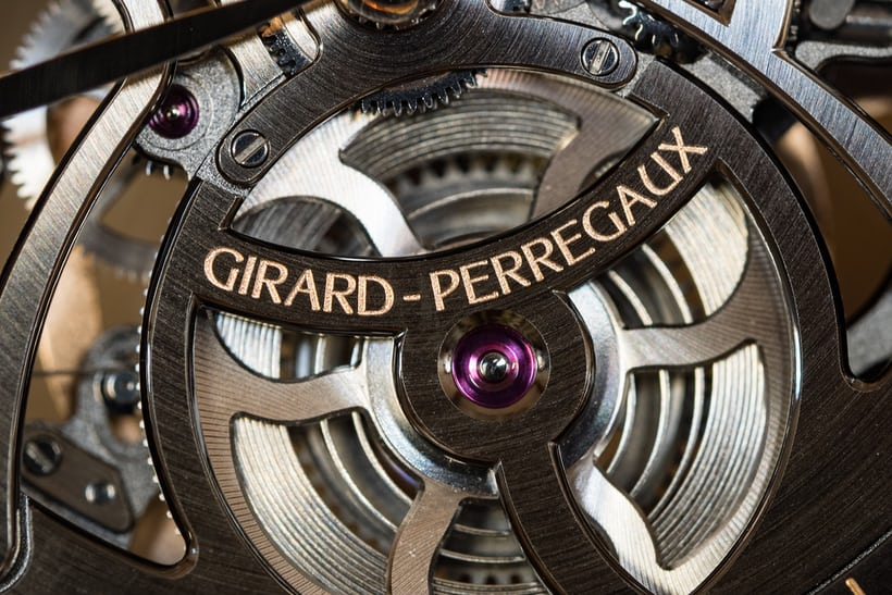 Girard-Perregaux 1966 Skeleton Automatic mainspring barrel dial side