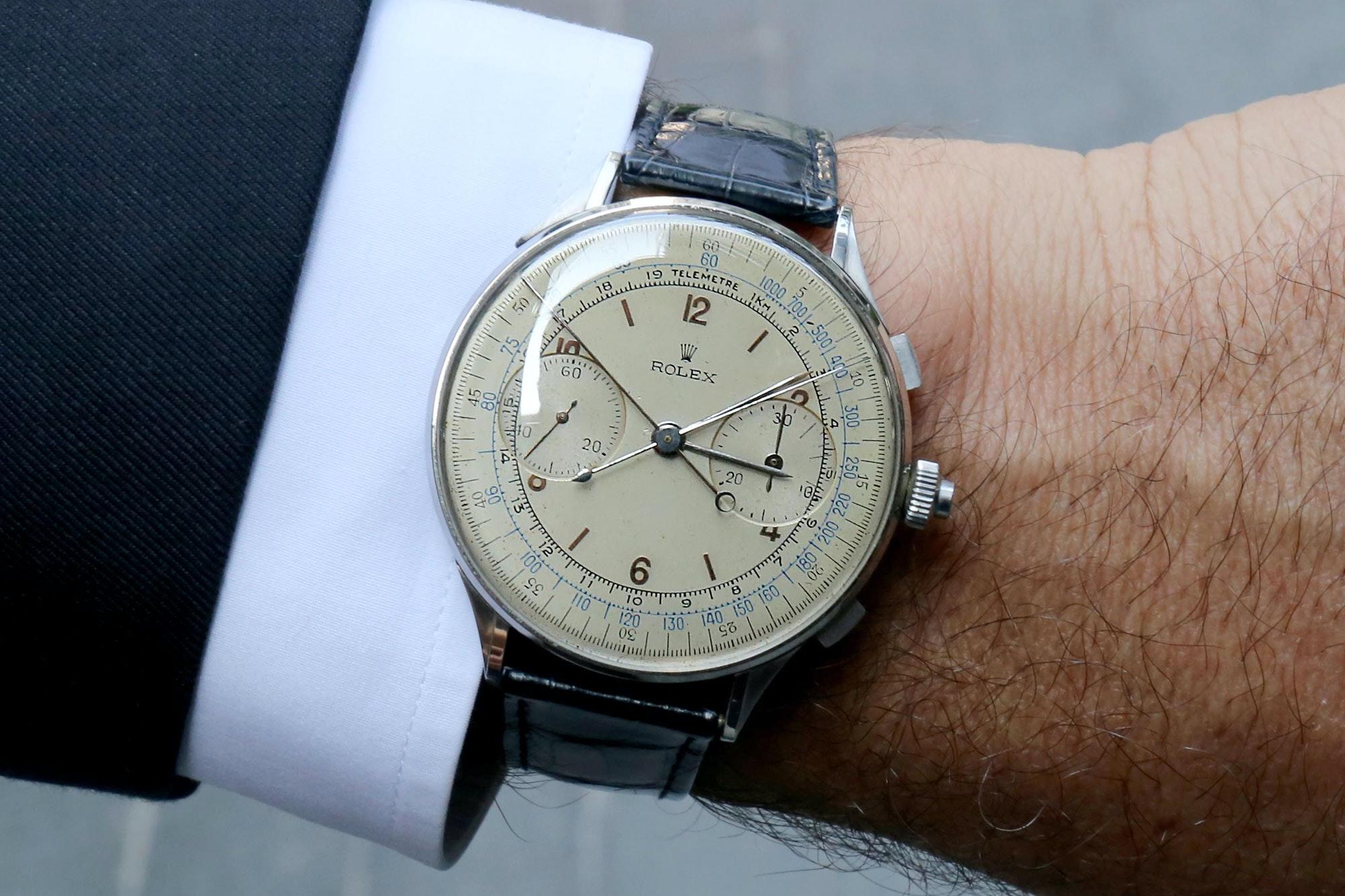 rolex ref. 4113 Watch Spotting: A Split-Seconds Rolex Ref. 4113, Casually Worn At Dubai Watch Week Watch Spotting: A Split-Seconds Rolex Ref. 4113, Casually Worn At Dubai Watch Week rolex