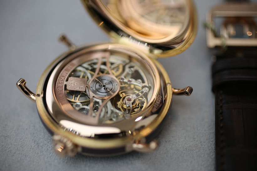 h moser Heritage Tourbillon Skeleton winding rotor