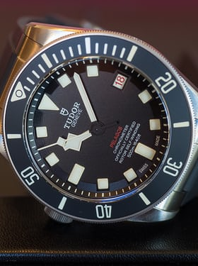 The Pelagos LHD. Hands-On: The Tudor Pelagos LHD 'Left Hand Drive,' A 500-Meter, Crown-Left Diver's Chronometer Hands-On: The Tudor Pelagos LHD 'Left Hand Drive,' A 500-Meter, Crown-Left Diver's Chronometer PB170271