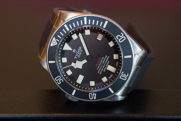 Tudor Pelagos LHD dial closeup