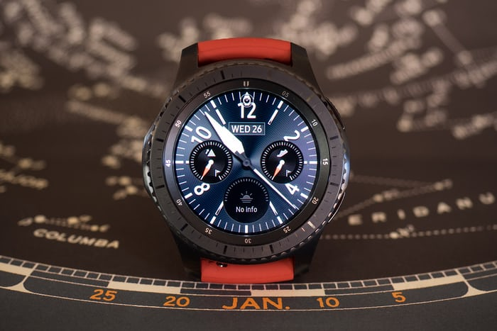 The Samsung Gear S3 frontier dial