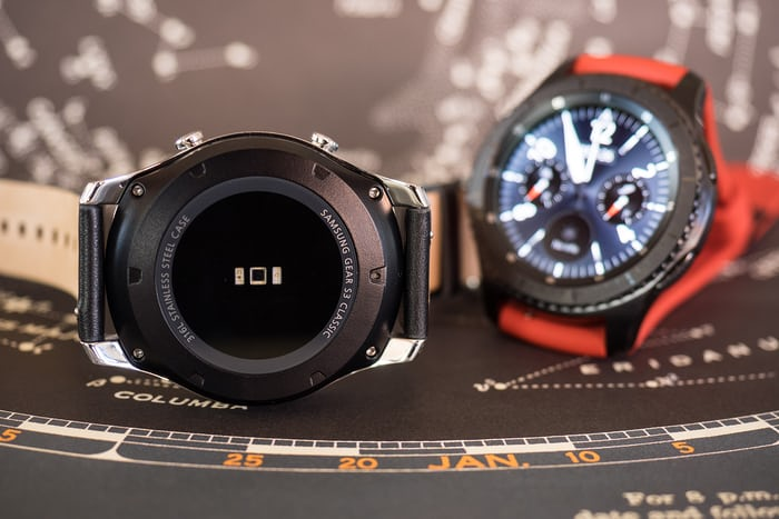 The Samsung Gear S3 caseback