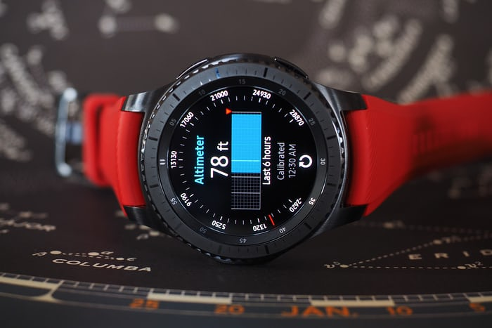 The Samsung Gear S3 altimeter