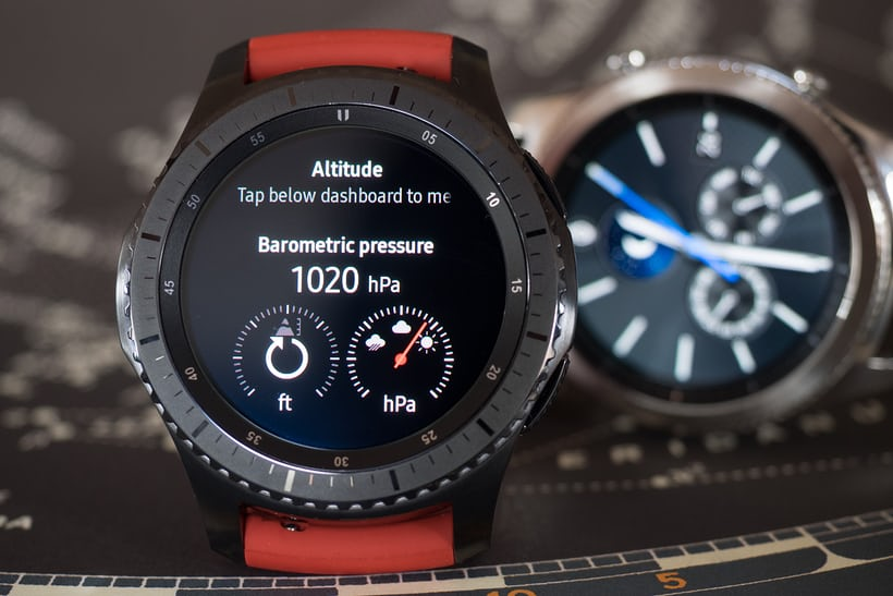 The Samsung Gear S3 altitude