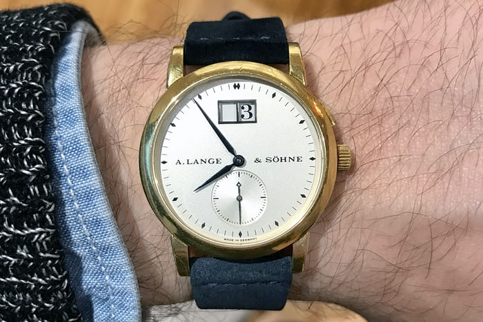 a lange sohne saxonia 1996 yellow gold