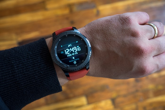 The Samsung Gear S3 frontier wrist shot