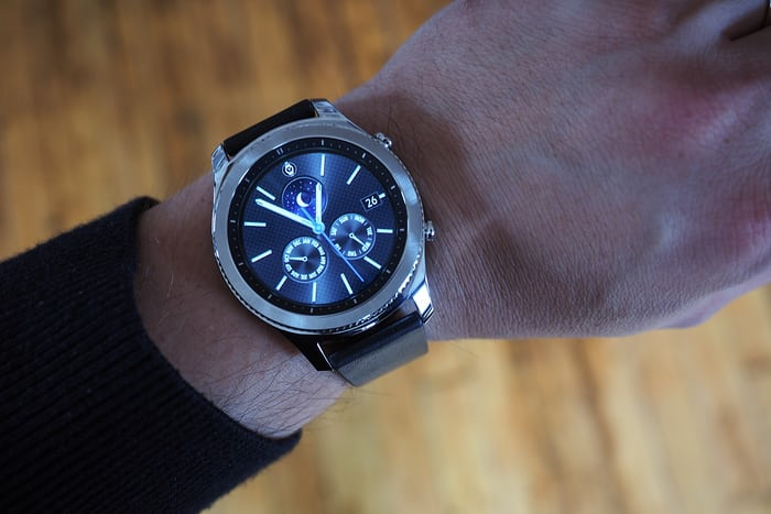 The Samsung Gear S3 classic wrist shot