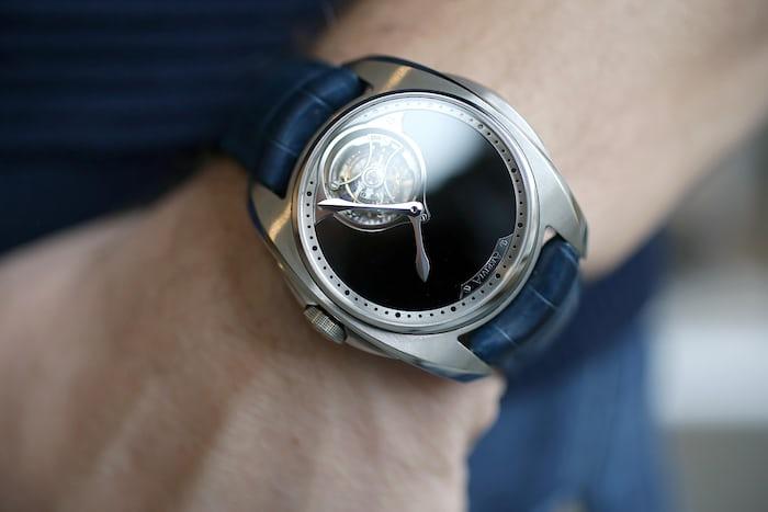 The Akrivia Tourbillon Hour Minute wrist shot
