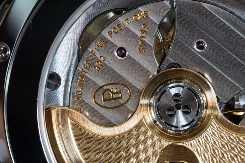 Parmigiani Fleurier Centum Perpetual Calendar Openworked Graphite movement adjusted to 5 positions