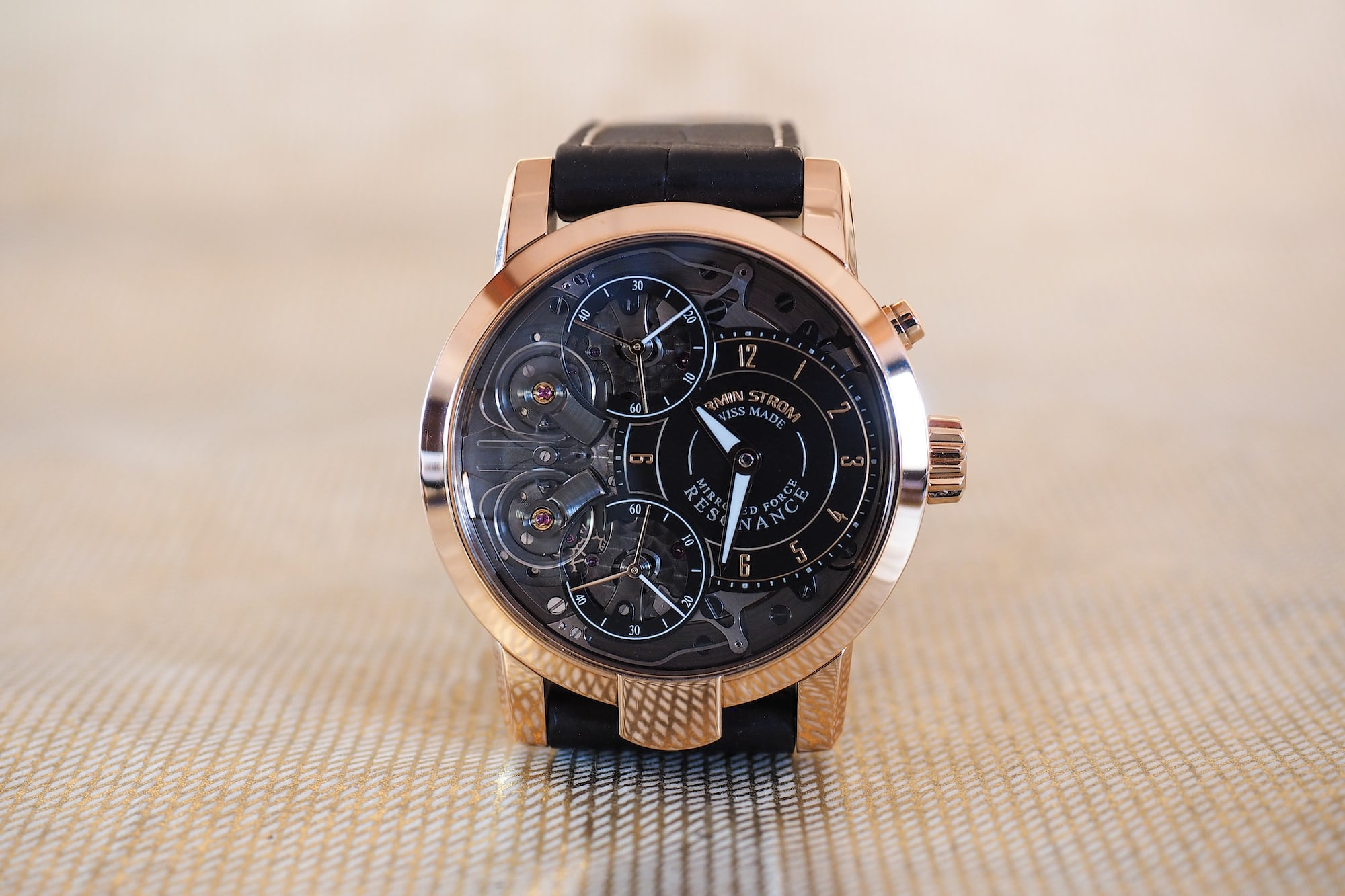 """Armin Strom Mirrored Force Resonance """"Fire"""" rose gold"""