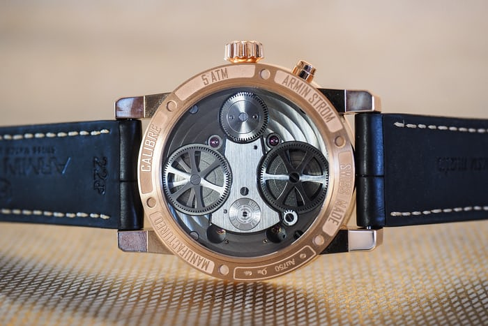 Armin Strom Mirrored Force Resonance Fire caseback