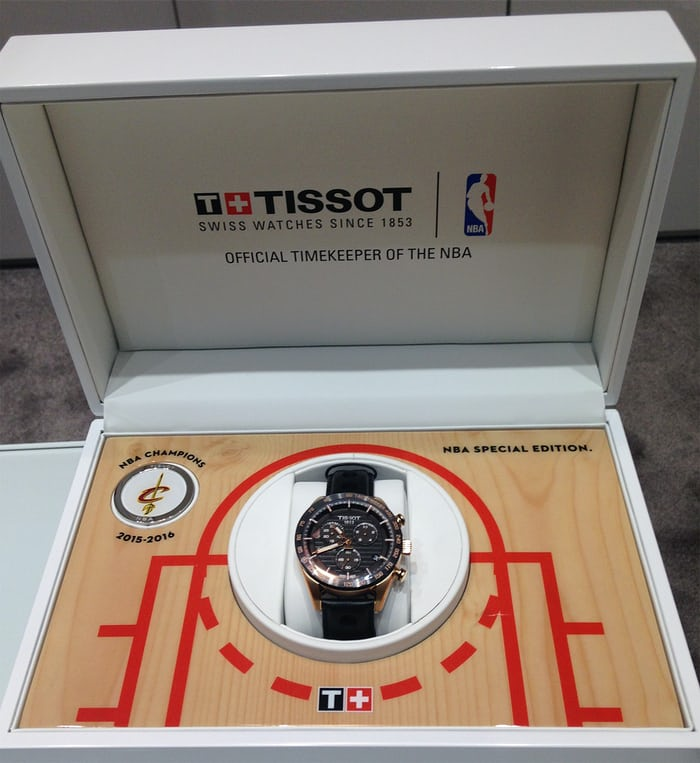 Tissot NBA Championship watch for Cleveland Cavaliers.