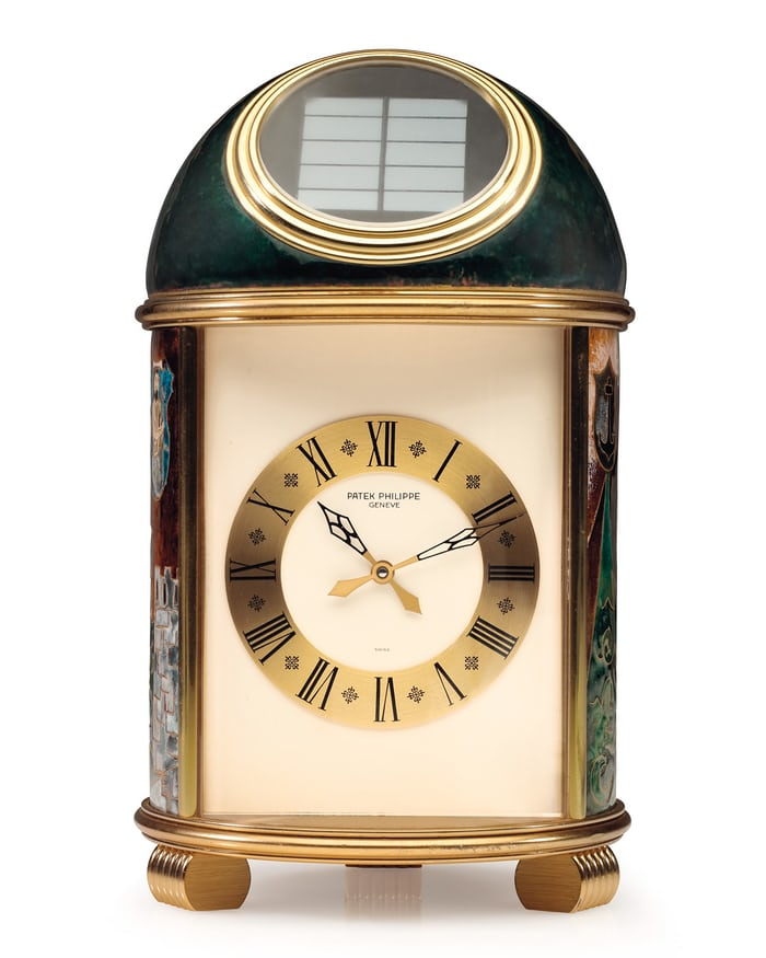 Solar Powered, Quartz Regulated Table Clock From Patek Philippe