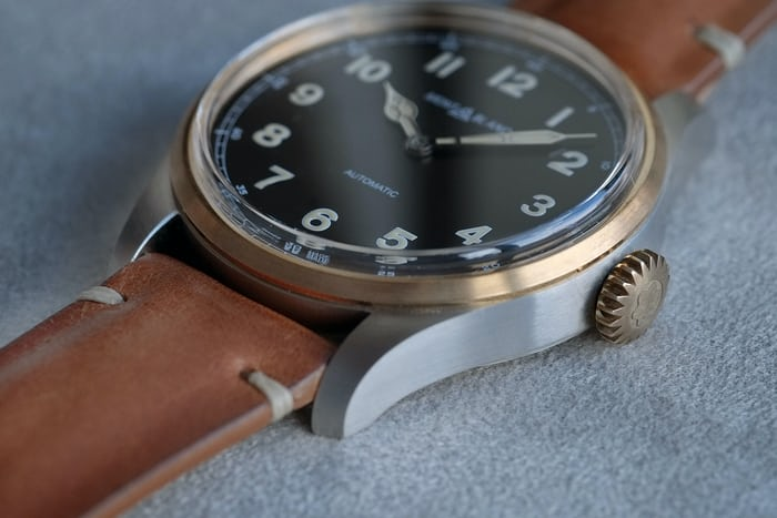 two tone steel bronze 1858 automatic montblanc