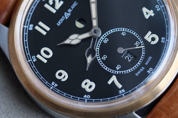 1858 automatic dual time montblanc dial