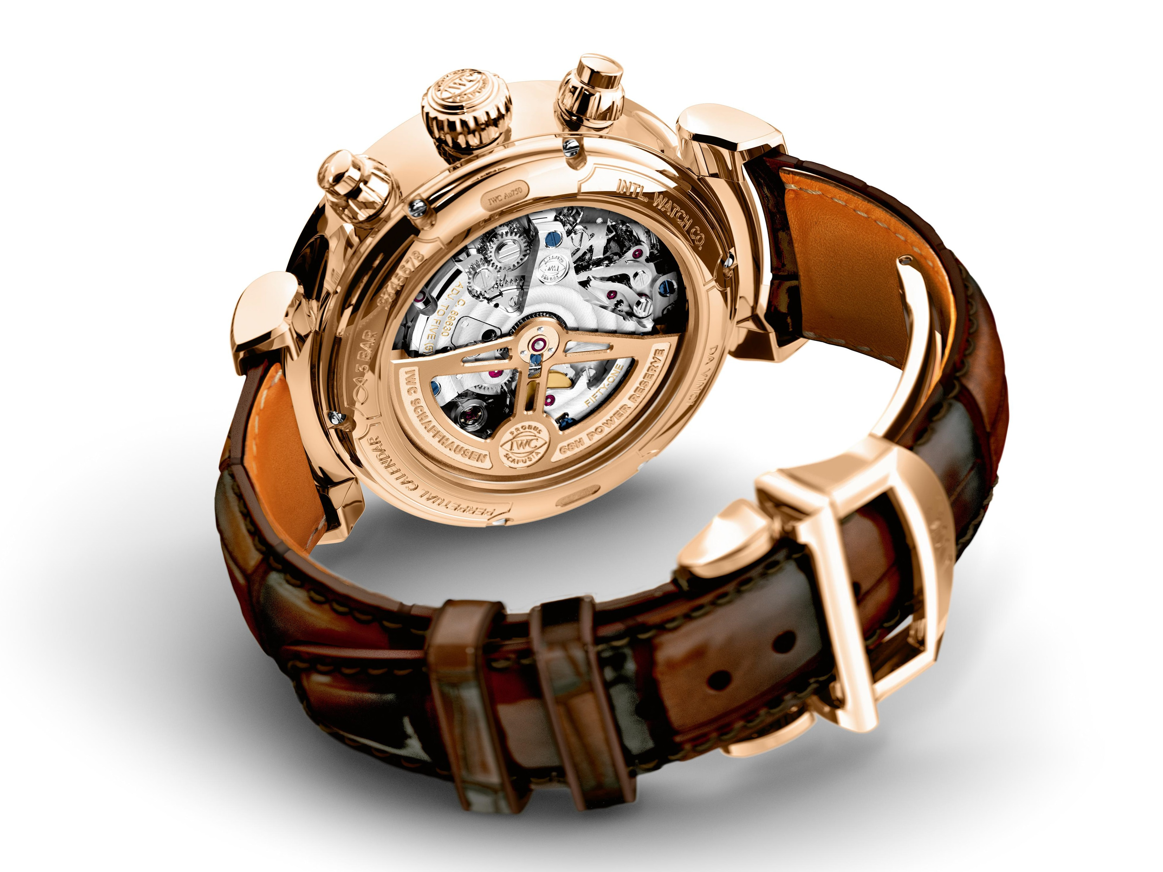 IWC Perpetual Calendar Chronograph Ref. IW392101 movement Introducing: Three New Da Vinci Watches From IWC, Including 2 Ladies' Timepieces, And A New Da Vinci Perpetual Chronograph Introducing: Three New Da Vinci Watches From IWC, Including 2 Ladies' Timepieces, And A New Da Vinci Perpetual Chronograph IW392101 Lifestyle Back