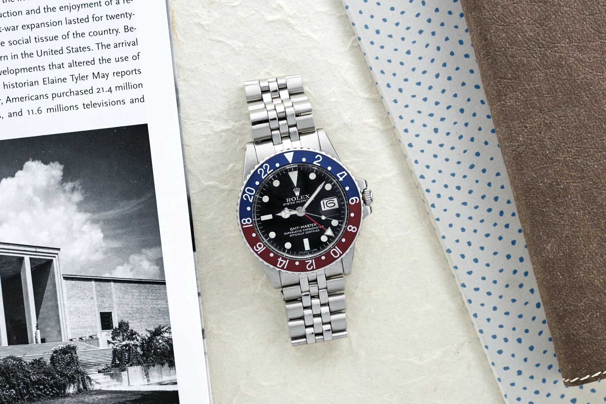 Rolex GMT-Master Reference 1675 In The Shop: A 1990 Tudor Submariner Reference 79090 Blue, A 1979 Rolex GMT-Master Reference 1675, And A 1966 Breitling Navitimer In The Shop: A 1990 Tudor Submariner Reference 79090 Blue, A 1979 Rolex GMT-Master Reference 1675, And A 1966 Breitling Navitimer 467 RolexGMT Lifestyle LANDSCAPE