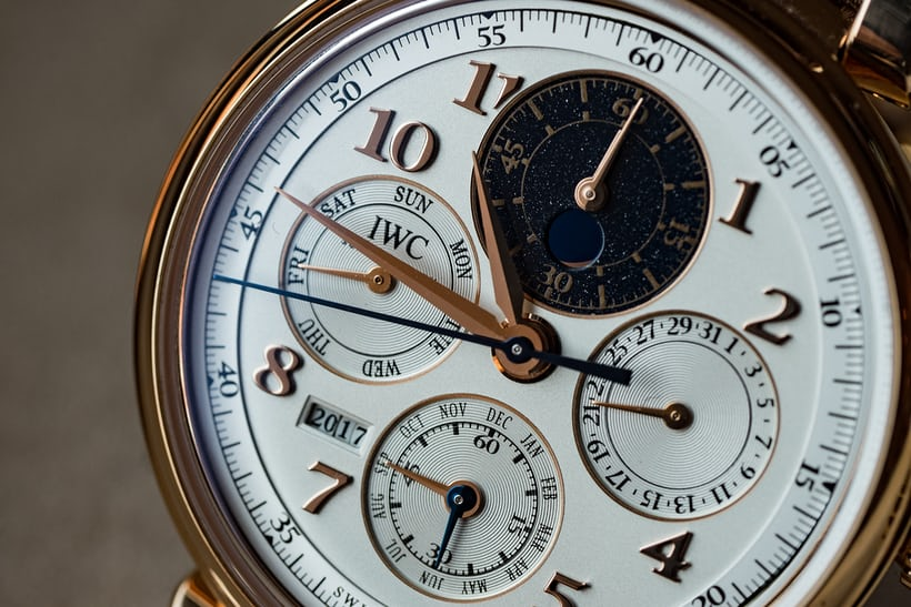 IWC Perpetual Calendar Chronograph Ref. IW392101 dial closeup