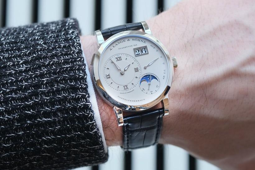 a lange sohne lange 1 moon phase platinum wristshot