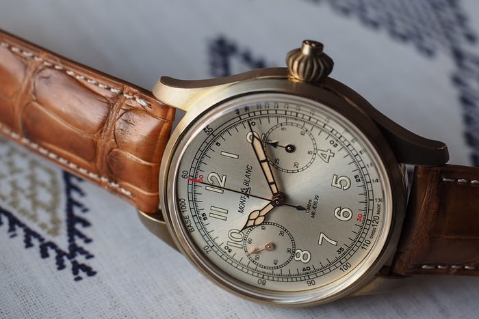 The 1858 Chronograph Tachymeter Limited Edition dial side