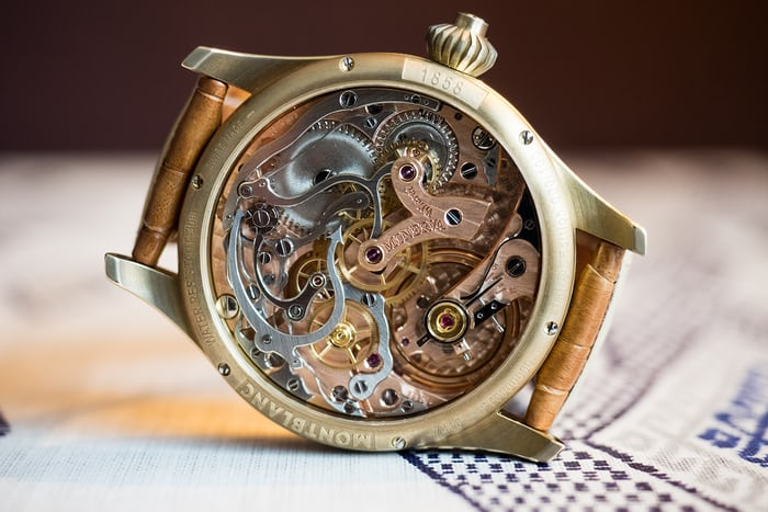 The 1858 Chronograph Tachymeter Limited Edition movement
