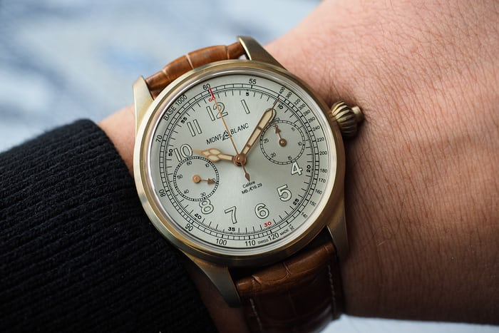 The 1858 Chronograph Tachymeter Limited Edition wrist shot