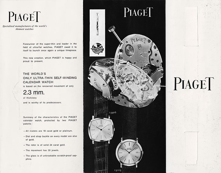 Piaget brochure 1960 Introducing: The Piaget Altiplano 60th Anniversary Collection, With Automatic And Hand-Wound Editions Introducing: The Piaget Altiplano 60th Anniversary Collection, With Automatic And Hand-Wound Editions 1960 Brochure 12P 2