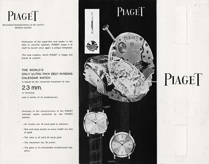 Piaget brochure 1960