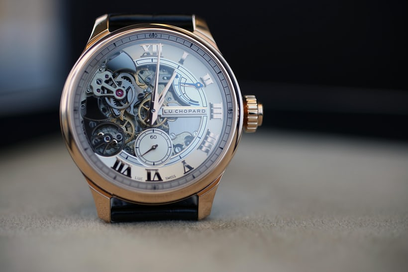 Chopard Full Strike Dial on the wrist