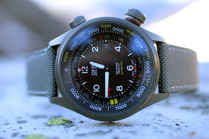 Oris Altimeter Rega Limited Edition wrist shot