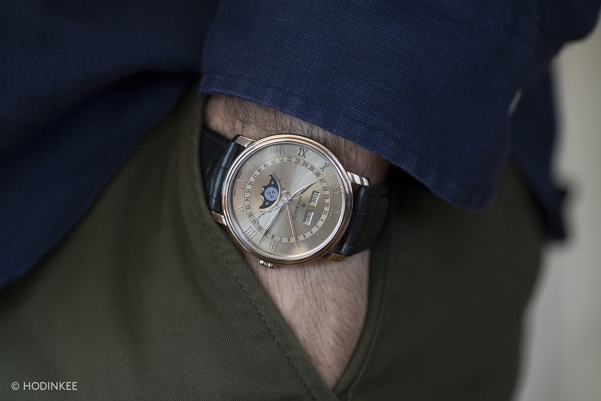 Blancpain Villeret Ultra-Slim Complete Calendar wristshot