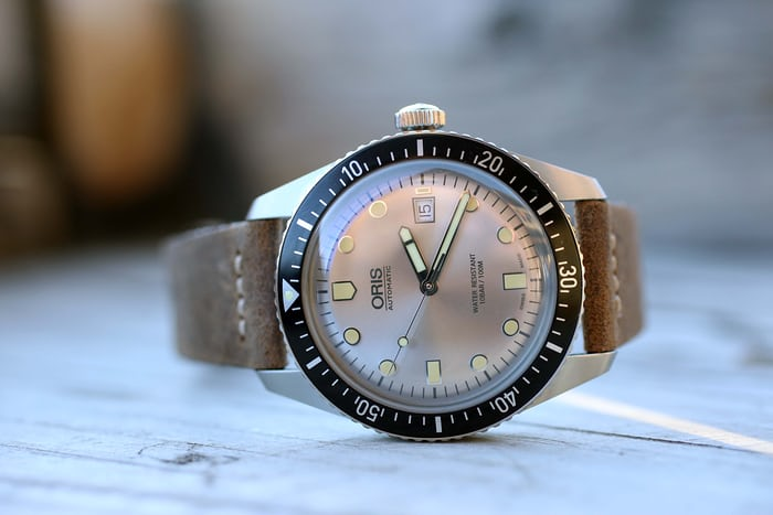 The Oris Divers Sixty-Five with silver dial.