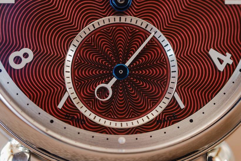 kari voutilainen red lacquer guilloche dial