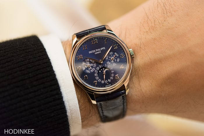 The Patek Philippe reference 5327 in rose gold.