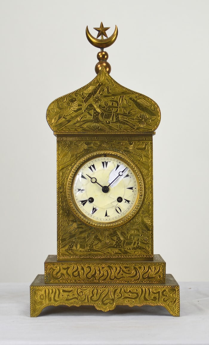 Ottoman mantle clock, French manufacture, 1880