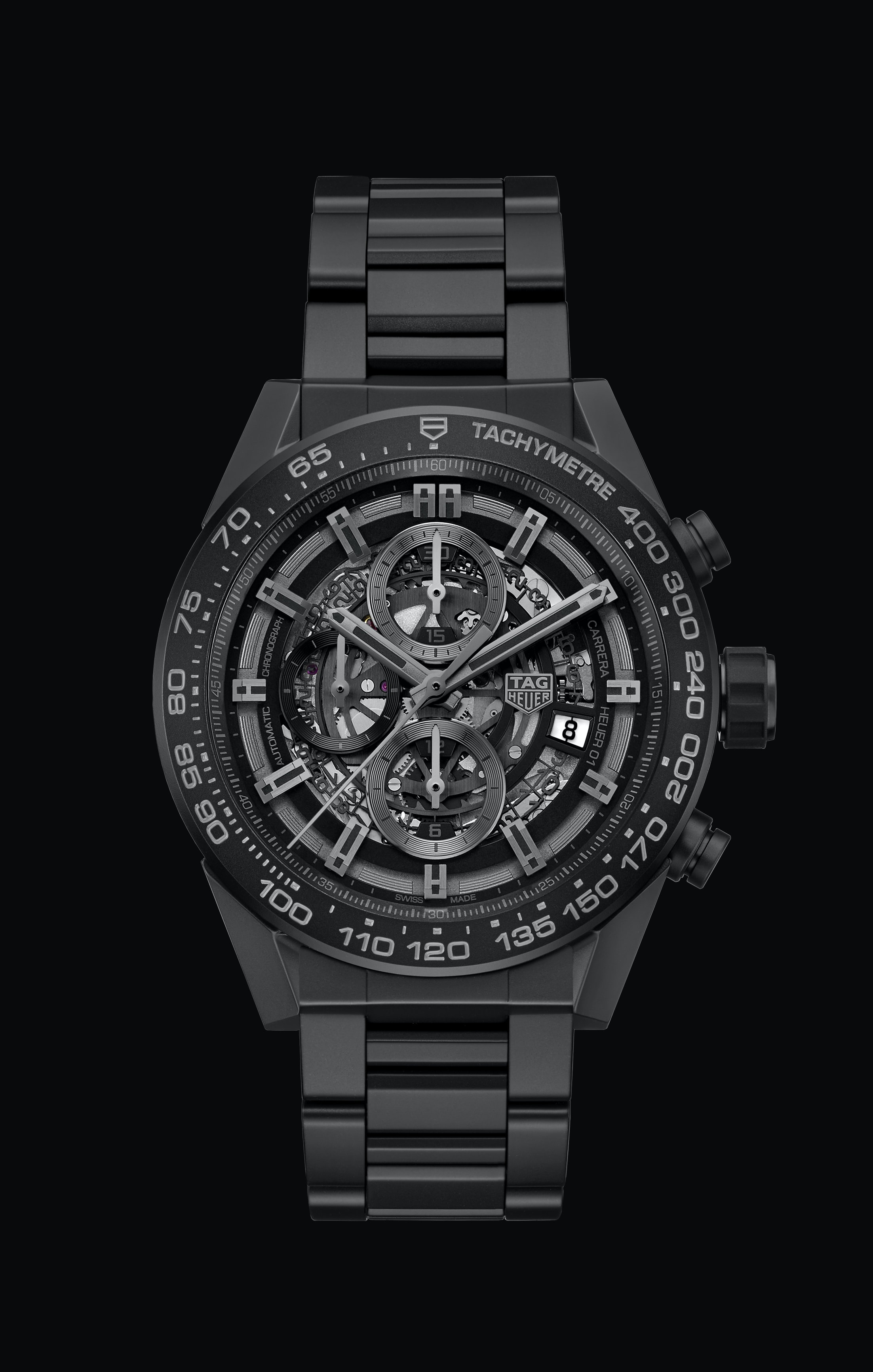 Introducing: The TAG Heuer Carrera Heuer-01 Full Black Matte Ceramic Introducing: The TAG Heuer Carrera Heuer-01 Full Black Matte Ceramic CAR2A91