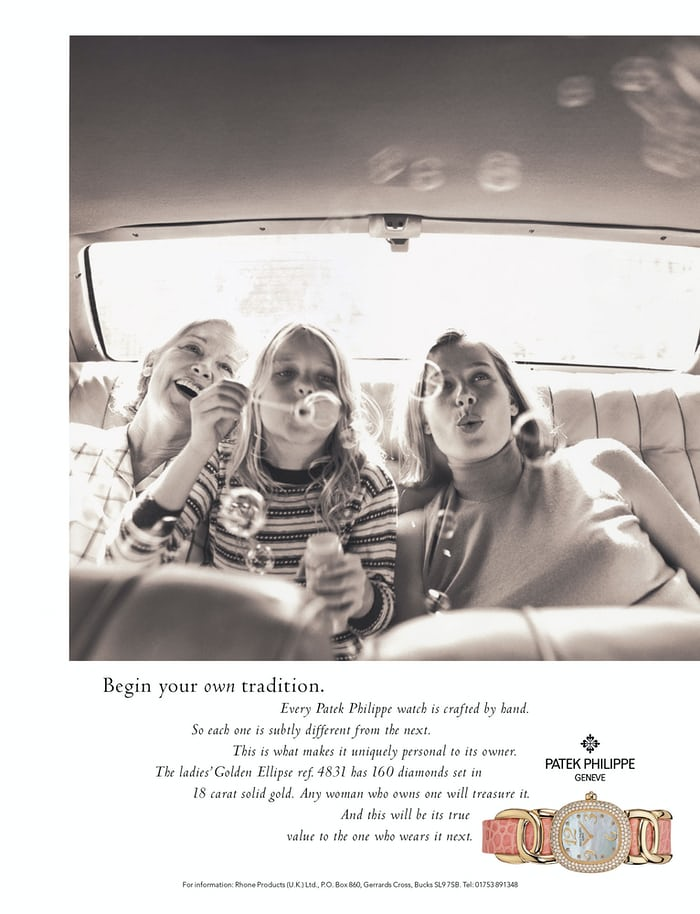 generations advertisement patek philippe