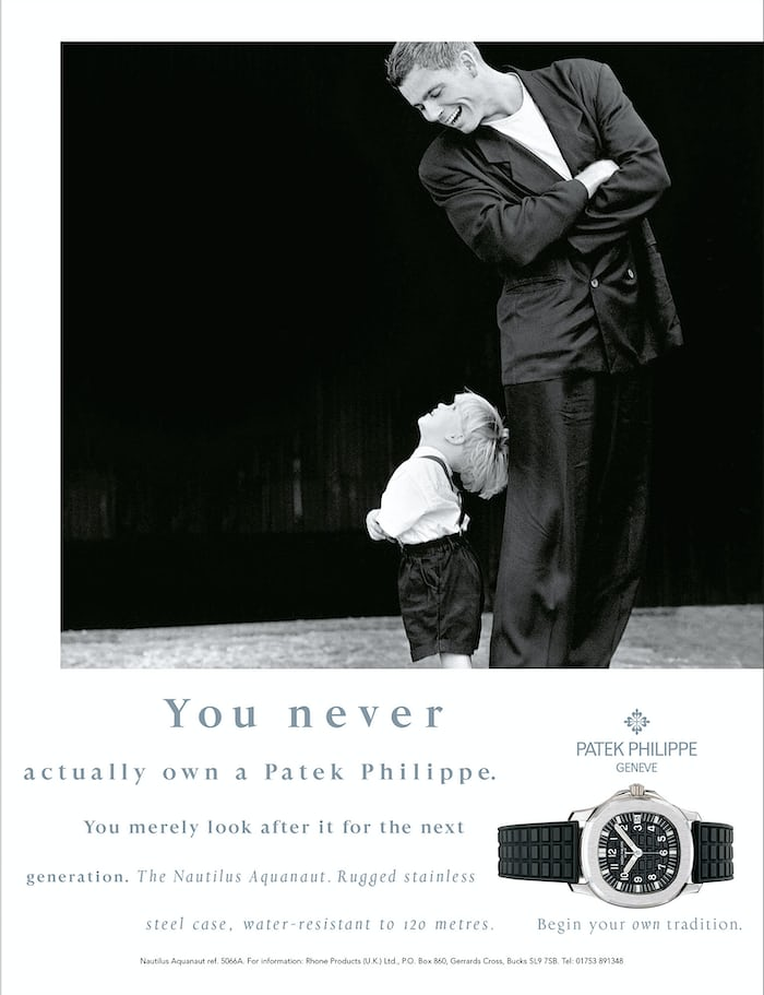 aquanaut patek philippe generations advertisement
